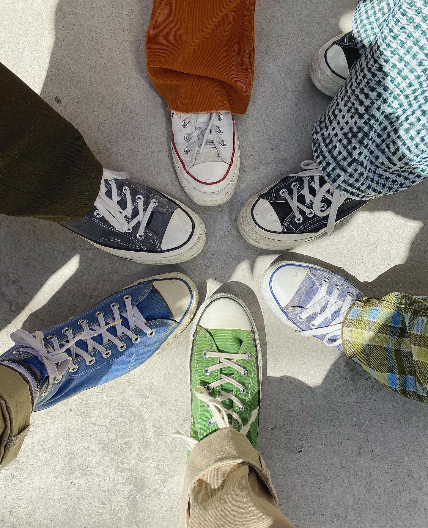 staff converse day!!.#converse#chucktaylor#usa#70s#80s#90s#vintage#hearty#abond#群馬美容室#高崎美容室#美容室#fashion#ootd#sneakers