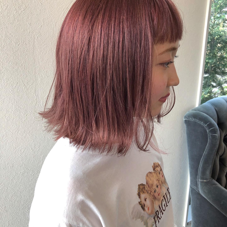 カラー ピンク ヘア