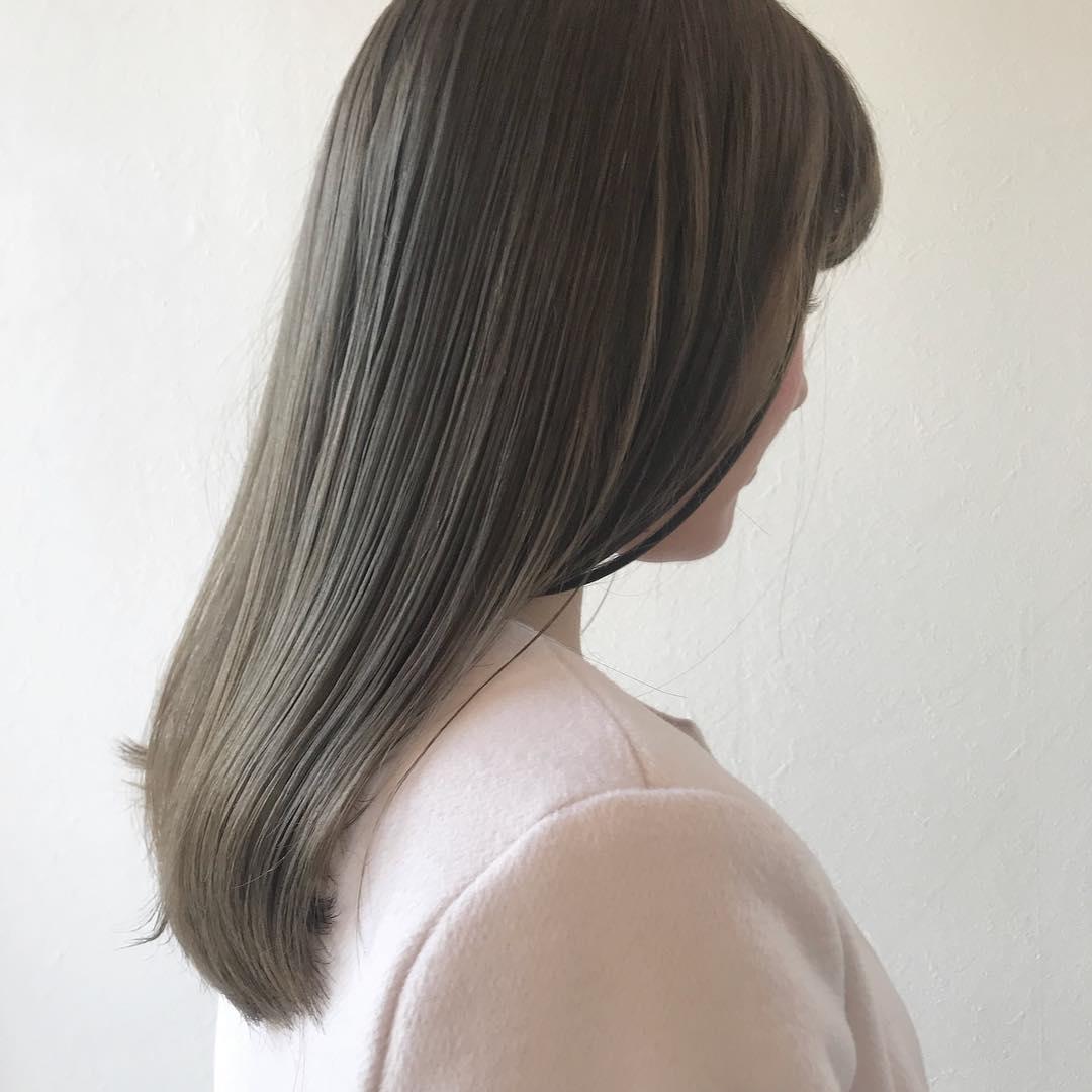 担当シオリ @shiori_tomii 明るいマットベージュ#abond #shiori_hair #マットベージュ#オリーブベージュ#高崎美容室