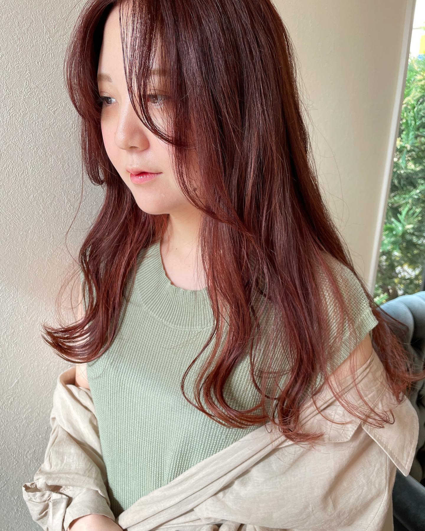 hair ... TOMMY ︎red orange @abond_tommy @heartyabond#tommy_hair#heartyabond#abond#カラー#ヘアカラー#アボンド#高崎#高崎美容室#群馬#群馬美容室